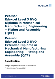 Competence-based qualification in Mechanical Manufacturing Engineering - Fitting and Assembly (L3) specification