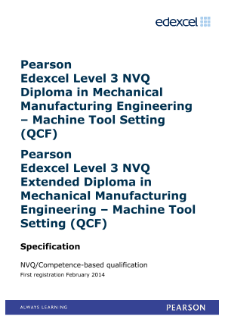 Competence-based qualification in Mechanical Manufacturing Engineering - Machine Tool Setting (L3) specification