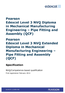 Competence-based qualification in Mechanical Manufacturing Engineering - Pipe Fitting and Assembly (L3) specification