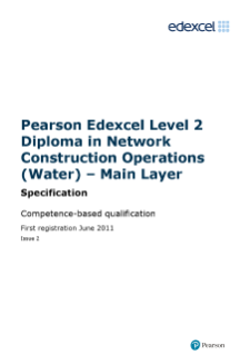 Specification - Level 2,Edexcel NVQ/competence-based qualifications