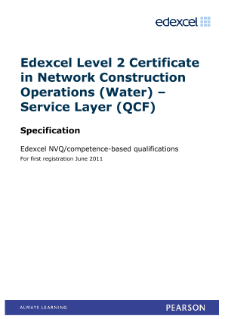 Competence-based qualification in Network Construction Operations (Water) - Service Layer (L2) specification