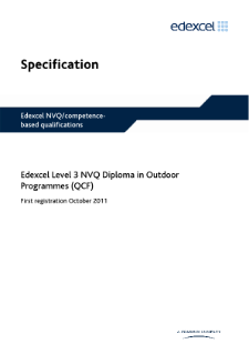 NVQ Diploma in Outdoor Programmes (L3) specification