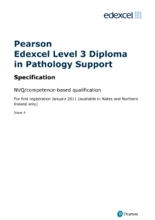 Competence-based qualification Diploma in Pathology Support specification