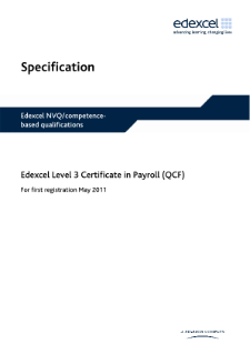 Competence-based qualifications in Payroll (L3) specification