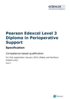 Competence-based qualification in Perioperative Support (L3) specification