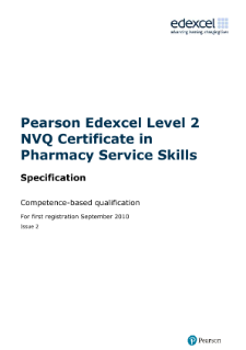 Nvq And Competence Based Qualifications Qcf Pharmacy Service