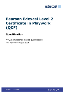 Competence-based Certificate in Playwork (L2) specification