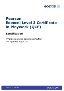 Competence-based Certificate in Playwork (L3) specification