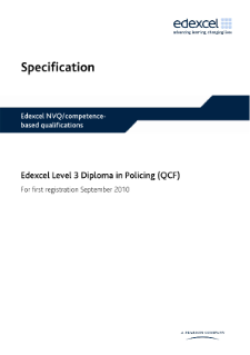 Competence-based qualification in Policing (L3) specification