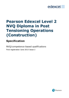 NVQ Diploma in Post Tensioning Operations (Construction) (L2) specification