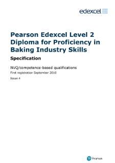 Competence-based qualification for Proficiency in Baking Industry Skills (L2) specification
