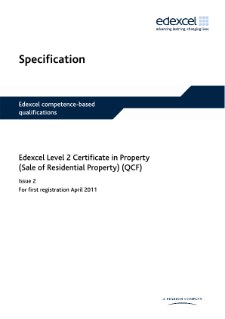 Competence-based qualification Property (Sale of Residential Property) (L2) specification