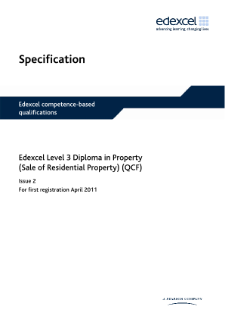 Competence-based qualification in Property (Sale of Residential Property) (L3) specification