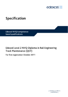 Competence-based qualification in Rail Engineering Track Maintenance (L2) specification