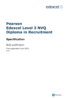 Competence-based qualification Level 3 Certificate in Recruitment specification