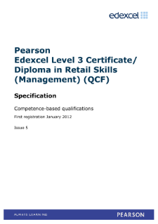 Competence-based qualification in Retail Skills (Management) (L3)