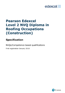 Pearson Edexcel Level 2 NVQ Diploma in Roofing Occupations (Construction)