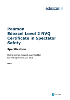 Pearson Edexcel Level 2 NVQ Certificate in Spectator Safety (QCF)