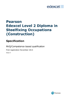 Pearson Edexcel Level 2 NVQ Diploma in Steelfixing Occupations (Construction) (QCF)