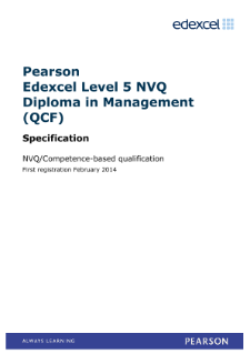 Pearson Edexcel Level 5 Diploma in Supply Chain Management (QCF)