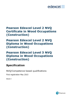 Specification - Edexcel Level 2 NVQ Certificate in Wood Occupations (Construction) (QCF)