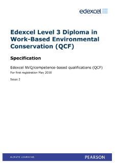 Competence-based qualification in Work-Based Environmental Conservation (L3) specification