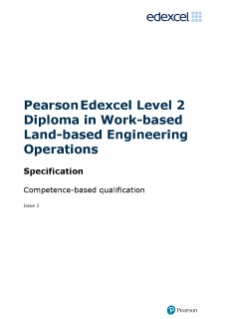 Competence-based qualification in Work-based Land-based Engineering Operations (L2) specification