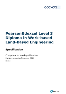 Competence-based qualification in Work-based Land-based Engineering (L3) specification