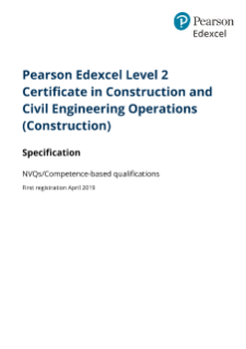Level 2 Certificate Construction and Civil Engineering Operations (Construction)