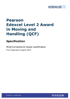 NVQ Diploma in Moving and Handling (L2) specification