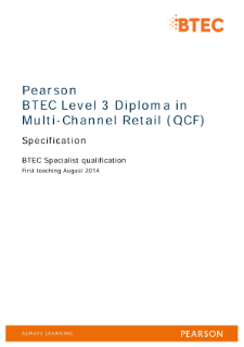 Competence-based qualification in Multi-Channel Retail (L3) specification