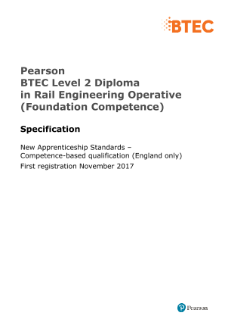 NVQ Diploma in Rail Engineering L2