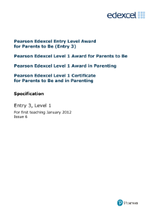 Edexcel Certificate for Parents to be and in Parenting