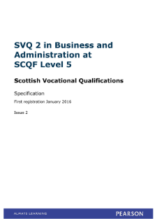 Business and Administration at SCQF Level 5 specification