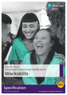 BTEC WorkSkills Entry Level 2 45 GLH Award specification
