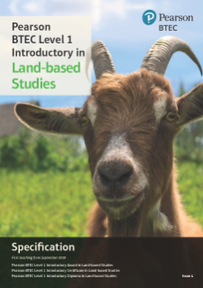 Specification - Pearson BTEC Level 1 Introductory in Land - Based Studies