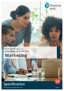 BTEC International Level 3 in Marketing specification