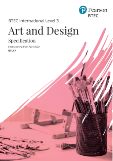 BTEC International Level 3 Art and Design specification