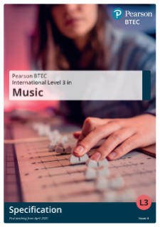 BTEC International Level 3 Music specification