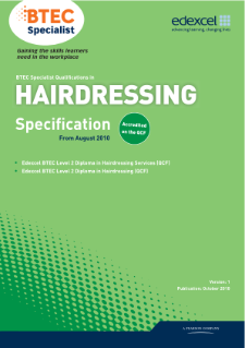 BTEC Level 2 Diploma in Hairdressing Services specification