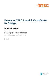 BTEC Level 2 Design specification