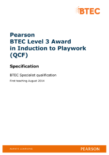 BTEC Level 3 Award in Induction to Playwork specification