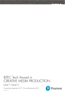 BTEC Level 1/ Level 2 Tech Award in Engineering specification