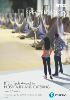BTEC Level 1/ Level 2 Tech Award in Hospitality draft specification