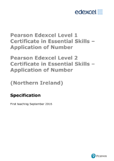 Application of Number specification level 1