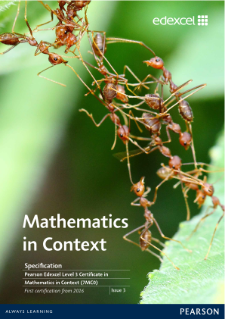 Specification - Edexcel Level 3 Certificate in Mathematics in Context