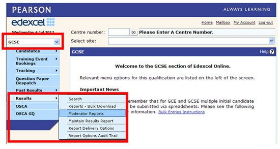 Edexcel online screenshot