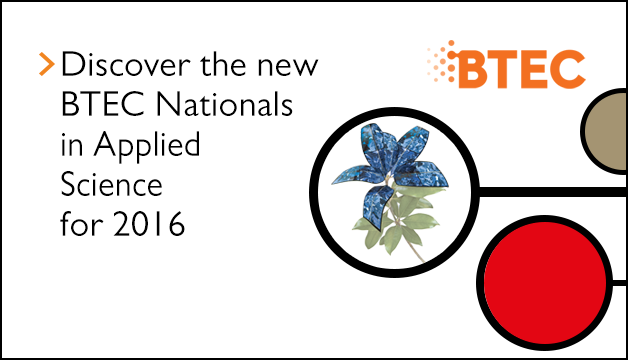 Link to Discover the new BTEC Nationals in Applied Science for 2016
