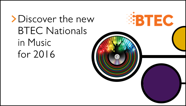 Link to Discover the new BTEC Nationals in Music for 2016