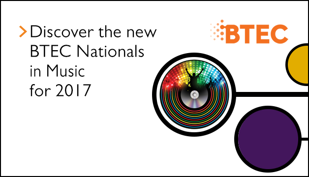 Link to the BTEC Nationals in Music for 2017 specification